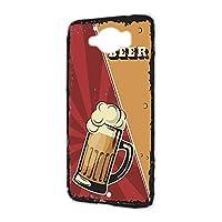ハードケース スマホケース AQUOS SERIE SHV32 用 BEER ビール・レッド ビンテージ アメリカン レトロ USA SHARP シャープ アクオス セリエ au スマホカバー けーたいケース けいたいカバー beer_00x_h191@04