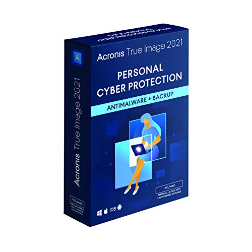 Acronis True Image 2021 | 1 PC/Mac | Perpetual License | Personal Cyber...