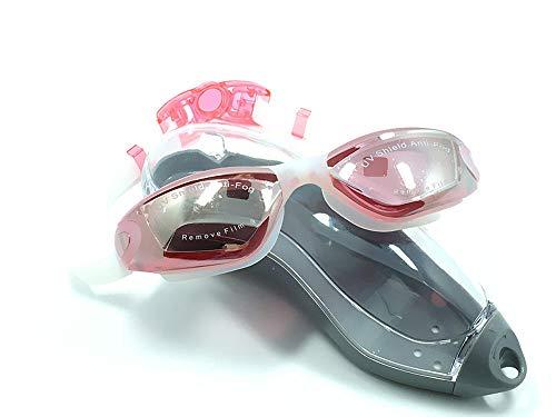 Zwembrillen-Amazon Kleurrijke zwembril High Definition Waterdicht en Fog-proof zwembril voor mannen en vrouwen Helder Roze