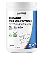Nutricost Organic MCT Oil Powder 8oz (.5 LB) - Certified USDA Organic, Great for Keto, Ketosis and Ketogenic Diets - Zero Net Carbs (Medium Chain Triglyceride) from Nutricost