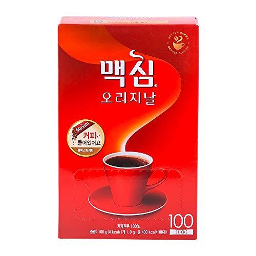 Maxim Original Coffee, Black Coffee, 100 Sticks (1.0g x 100T) (No Sugar & Creamer)