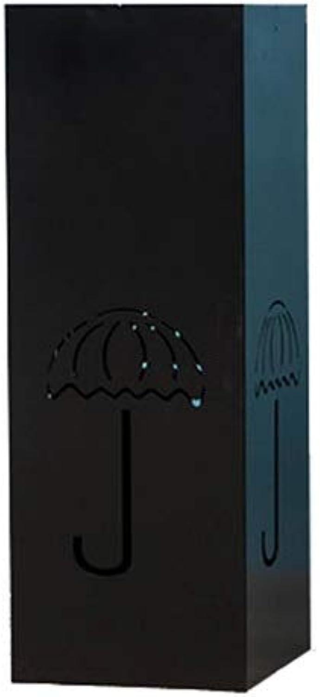 Umbrella Stands Umbrella Stand - Free Standing Floor Umbrella Holder with Creative Wrought Iron Umbrella Stand 20cmx20cmx55cm Umbrella Holder (color   Black)