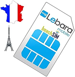 Frankrijk tot 100 GB Prepaid SIM-kaart Lebara van beachsim