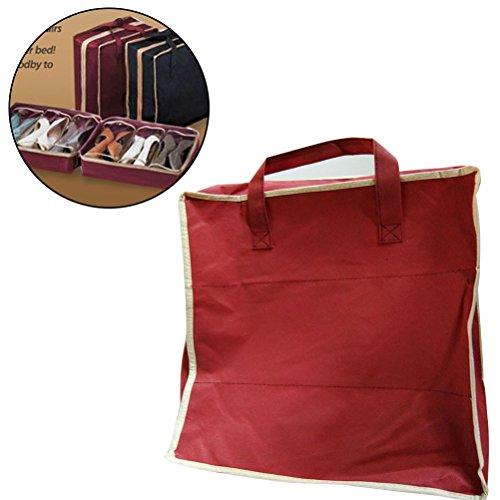 Polyester Rosa//Negro 28 x 10 x 29 cm 5/% PU Resto: ABS PVC Transparente VIGAR Lulu Bolsa de Zapatos para Viaje Material: Tela: 95/% Friendly