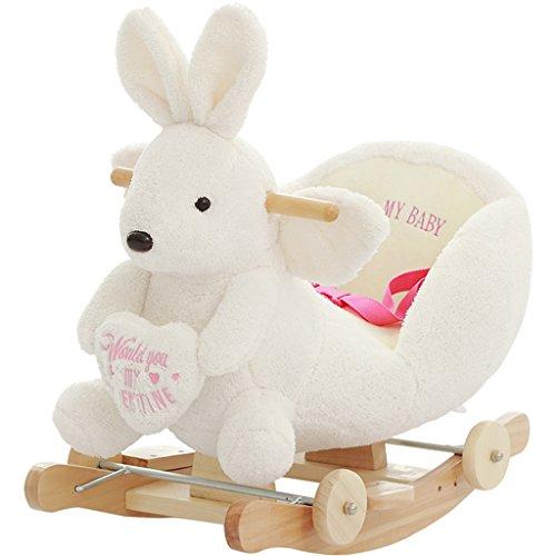 Enfant Rocker Toddler Rocker Infant Rocker Cheval à bascule en bois massif fauteuil à bascule de 1-4 ans bébé jouet double usage bébé voiture -LI JING SHOP (Couleur : Blanc)
