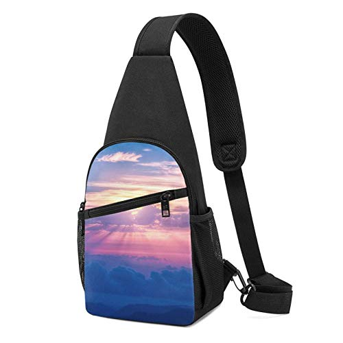 Bolsa de hombro transparente Sky para hombre, bolsa de hombro cruzada, para viajes, senderismo, bolsa de hombro para hombre
