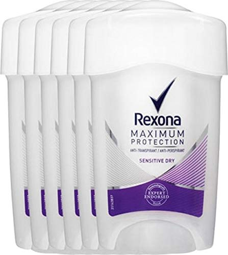 Rexona Deodorant Stick Women Maximum Protection Sensitive Dry 6 x Voordeelverpakking