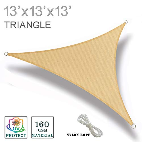 SUNNY GUARD Triangle Shade Sail – 13 ft. x 13 ft. x 13 ft.