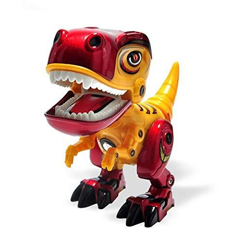 Kitabetty Elektronische roboter dinosaurier spielzeug, interaktive dinosaurier roboter spielzeug, multifunktionale interaktive pädagogische tier spielzeug für kinder junge kinder, 13x6x12 cm