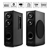 OBAGE DT-2425 Home Theaters Bluetooth Speakers Tower (Black) with Bluetooth 5.0,USB, Double Aux