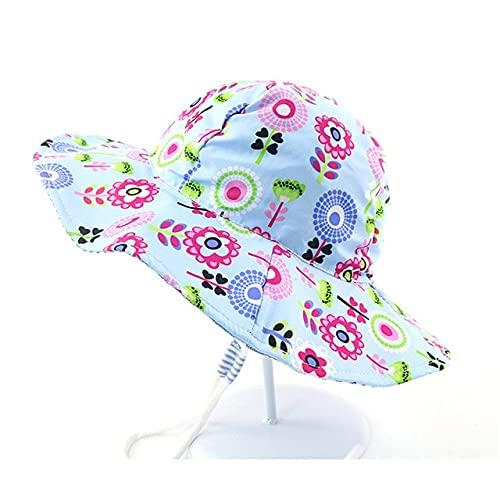 Ny sommar baby hink hatt UV-skydd pojkar mössa barn utomhus strand flickor solhatt tecknad spädbarn fiskare mössa-a2