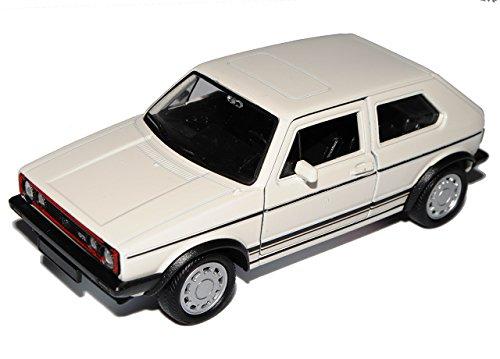 Welly Coche Volkwagen Golf I GTI blanco 3 puertas 1974-1983 ca 1/43 1/36-1/46 modelo Auto