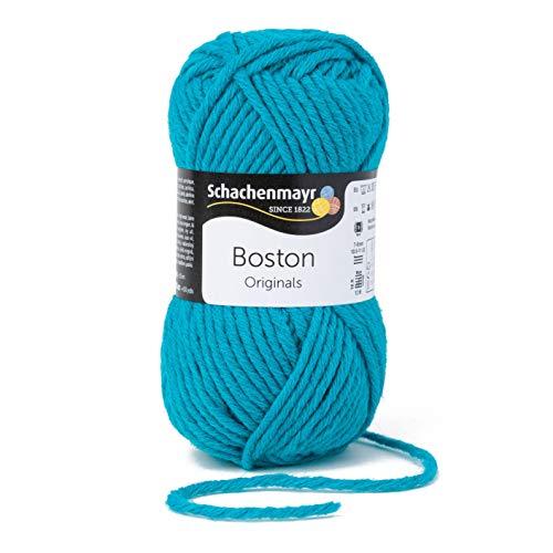 Schachenmayr since 1822 Boston, 9807412-00164, color: aqua, presentación: 50g, Hilos para tejer a mano
