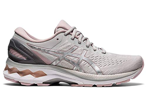 ASICS Women's Gel-Kayano 27 Running Shoes, 7.5M, Glacier Grey/Pure Silver