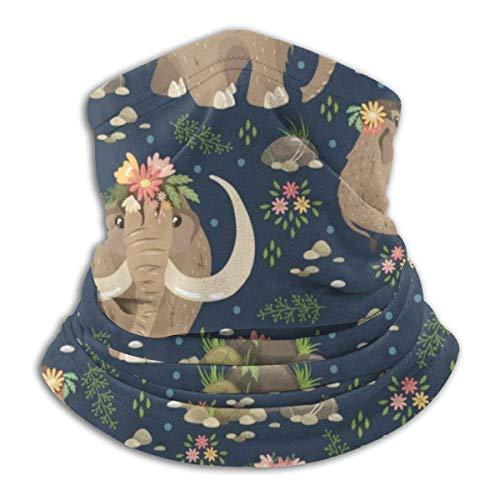 Mammut Tier Hals Gamasche Kopfbedeckung Bandana Magic Schal Sturmhaube Gesicht Sonnenmaske Schwarz
