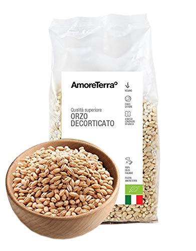 AmoreTerra (6 Pz.) Orzo BIO decorticato, 400g, Orzo biologico coltivato e decorticato in Italia, per le tue insalate, minestre e polpette