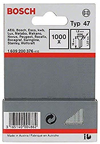 Bosch 1609200376-1.000 x Chiodi tipo 47, 1,8 x 1,27 x 16 mm