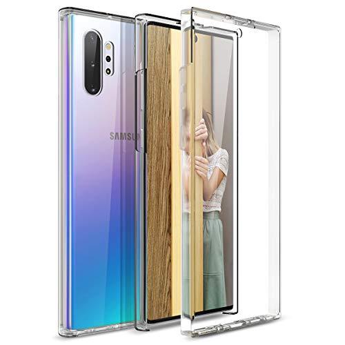 CE-Link per Cover Samsung Galaxy Note 10 Plus/Note 10+ Custodia 360 Gradi Full Body Rigida Protettiva Protezione Silicone TPU Ai Graffi Antiurto Protezione Posteriore - Trasparente