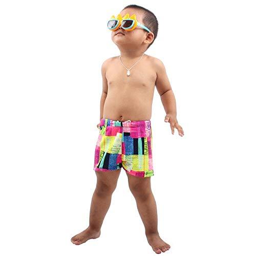 HATCHMATIC Sommer-Kind-Junge-Stretch Badehose Shorts Badehose Beach Holiday-Brett fr Kinder Pool Hose Bademode Grße L-2XL: Rosen-Rot, L, China