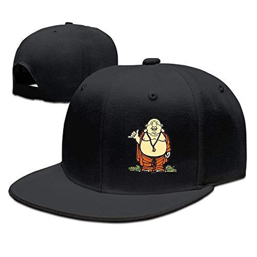 bowlife Adults Buddha Figure Funny Snapback Fitted Flat Bill Hats Black