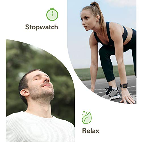 Letsfit Smart Watch, 1.3 Inch Fitness Trackers with Heart Rate Monitor, Activity Tracker, IP68 Waterproof Pedometer, Smartwatch Compatible with iPhone Android Phone for Women Men