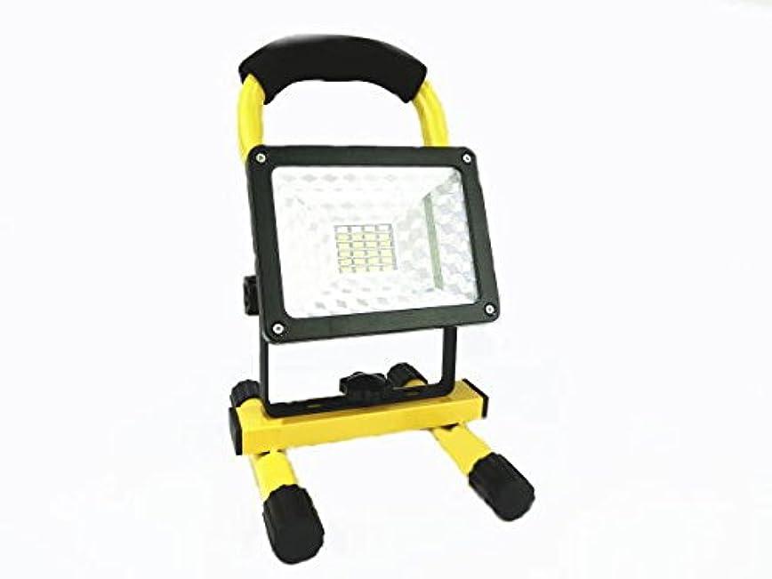 ノーブルレッドデートヘアF-BOX 24個15wLED投光器 作業用照明 夜釣り キャンプ 夜間作業などで大活躍 充電式LED作業灯 (黄色)