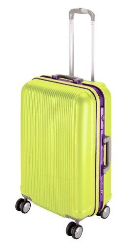 キャプテンスタッグ スーツケース キャリーバッグ TSAロック付き ハードフレームタイプ 4輪ダブルキャスター ストッパー付き Lサイズ アップルグリーン グレル UV-13