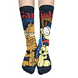 Unisex Garfield Long Socks Winter Warm Cute Cosplay Anime High Socks Sports Knee Pads Football Socks Skirt Stockings