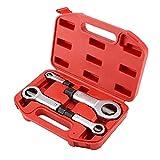 Herramientas de reparación de daños de reparación tornillo removedor de la herramienta del divisor de tuerca del interruptor Conjunto Rojo Heavy Duty con la caja 4PCS