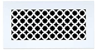 """Saba Air Vent Cover Grille - Acrylic Plexiglass 10"""" x 10"""" Duct Opening, 12"""" x 12"""" Overall White Finish Decorative Covers for Walls & Ceilings NOT for Floor USE, Venetian"""