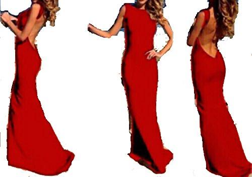 Ovender® - Vestido de ceremonia para mujer, para fiesta, largo, elegante, floral