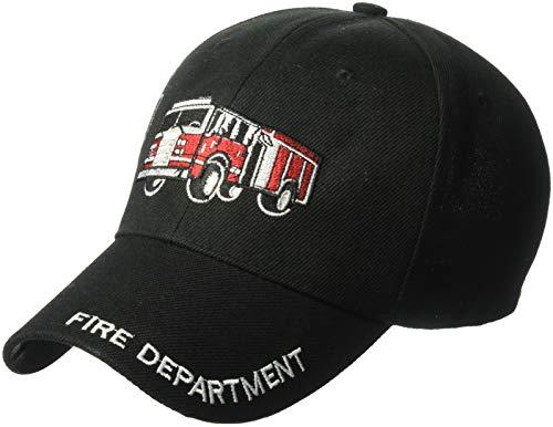 Y&W Kinder Mütze mit Stickerei Feuerwehrwagen, verstellbar, mit Haken und Schlaufe...