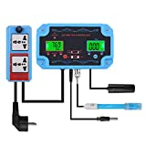 SZLX Medidor probador de pH/TDS/Temp en línea Detector de Calidad del Agua Controlador de pH Enchufe de relé Electrodo reemplazable Tipo BNC Sonda-US_Plug_110V