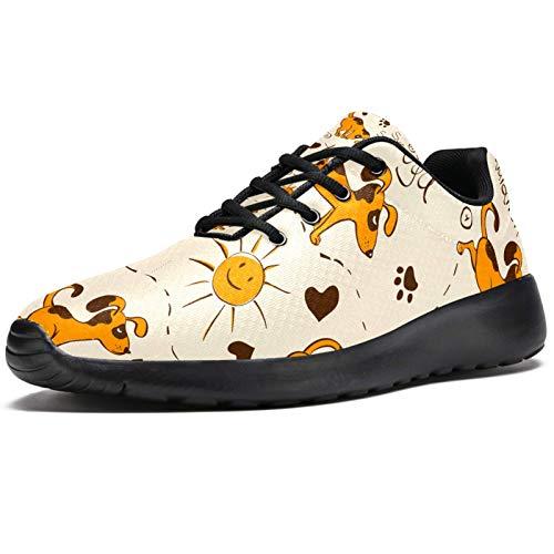 Zapatillas deportivas para correr para mujer, deportes, perro, yoga, sol, salud, de malla, transpirables, para caminar, senderismo, tenis, color, talla 41 EU