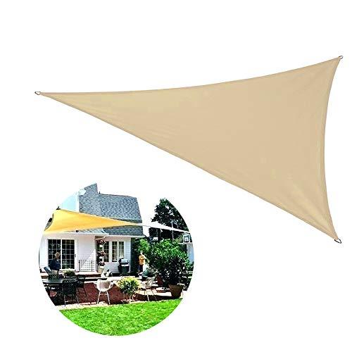 George Luifel driehoekig 3,5 x 3,5 x 3,5 cm, waterafstotend, luifel oprolbaar, balkonzonnezeil zonder boren zonnescherm tuin balkon en terras PES polyester