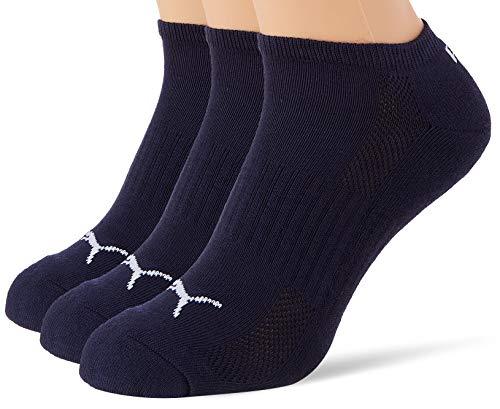 PUMA Unisex-Adult Cushioned Sneaker-Trainer (3 Pack) Socks, Navy, 39/42