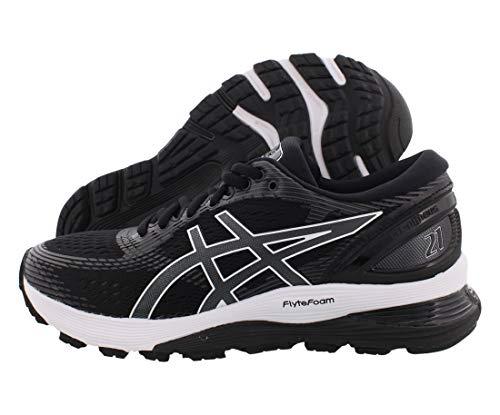 ASICS Women's Gel-Nimbus 21 Running Shoes, 10M, Black/Dark Grey
