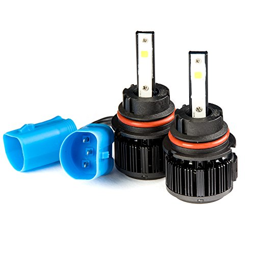 Krator LED 9007 Headlight Conversion Bulbs 40W 4000LM Light Bulbs High/Low 6000K White with Built-In Turbo Cooling Fan