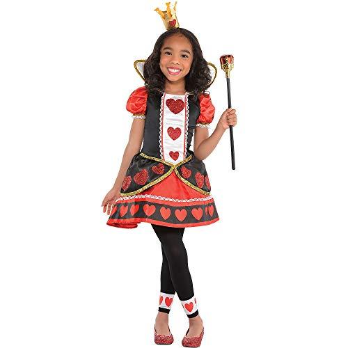 amscan 847243-55 Disfraz de Reina de Corazones de 8 a 10 aos, 1 unidad