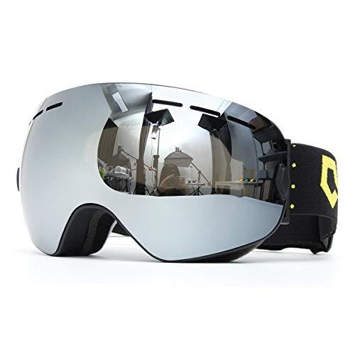 RongDuosi snowboard skibril twee lagen lens UV-bescherming anti-fog motorfiets rijden grijs motorfietsonderdelen motorbril