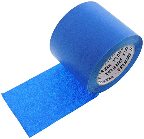 "4"" in Wide 3D Printing Low Temp Blue Painters Tape Masking Clean Release Easy Removal NO Residue 3D Printer Bed Grip Deck Cover EZ Easy Print Removal 60 Yd 4"" Inch"