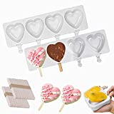 【HIGH-QUALITY MATERALS】 - Popsicle molds are made of soft food-grade silicone, You can use our ice pop maker safely and make healthy ice Popsicle.It is easier for frozen pop to slide out of mold, just peeling them out gently with your hands, the flex...