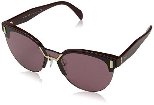 Prada 0PR04US TY7098 43 Gafas de sol, Rojo (Bordeaux/Violet), Mujer