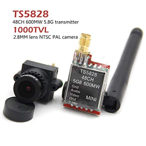 LEACO FPV Mini Digital Video Camera 1000TVL 1000 TVL Line 2.8mm Lens TS5828 5.8G 600mW 48CH Transmitter