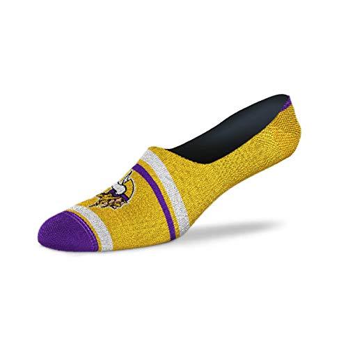 For Bare Feet - NFL Cruisin No Show Ankle Socks (Minnesota Vikings, Medium (5-10))