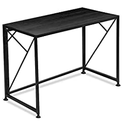 【EASY TO ASSEMBLE】Very minimal assembly effort required. Only 1 step, just open the black frame and put the desktop on it. Your precious time should not be wasted on tedious installation steps. 【Sturdy Steel Construction】The foldable table is made of...
