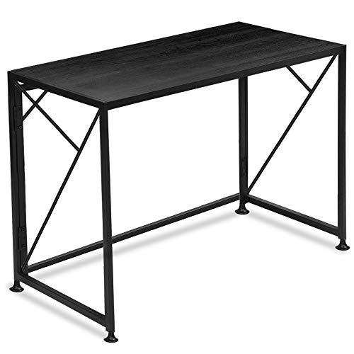 COMHOMAMesa Escritorio Plegable para el Ordenador, Mesa Industrial de Estilo Moderno y Sencillo para Estudio Oficina, 100 x 50 x 75 cm, Negro