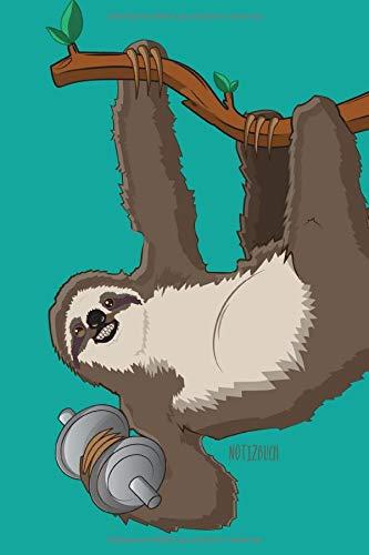 Notizbuch: Faultier Notizbuch A5 Punktraster | Faultier Fitness Cover | Notizheft | Tagebuch | Journal | Geschenk Faultier Sloth Fans | 120 Seiten