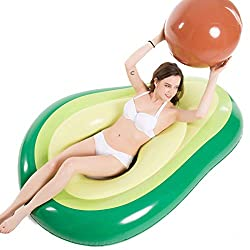 5Feet Giant Avocado Fruit Inflatable Swimming Pool Float Raft Summer Holiday Toy