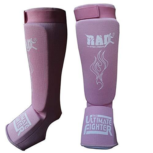 2Fit - Parastinchi per arti marziali Serior Kickboxing Muay Thai MMA parastinchi gambali e piedi protettore (rosa, medio)